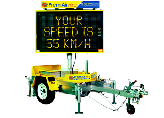 VMS | Speed Advisory Signs - PremiAir Hire | Hire • Sales
